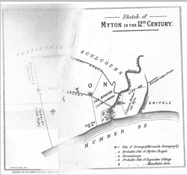 Hull in the 12th century didn't actually exist, instead an area known as Myton was mapped.