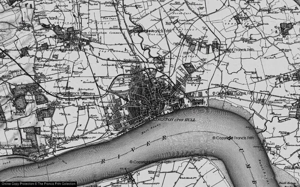 Map of Hull 1895